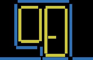 Mediniai langai ir balkonų durys