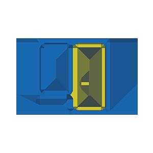 Medinės - aliuminės balkono durys